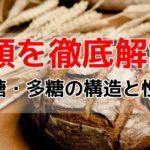 糖類の名前・性質・構造式の覚え方!【二糖・多糖編】